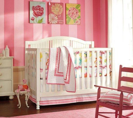 W pokoju dziecka można sobie pozwolić na bardziej intensywny odcień różu