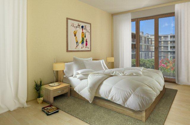Sypialnia zaprojektowana przez pracownię Decoroom