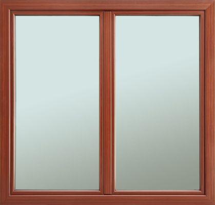 Drewniane okno firmy Bertrand z nakładką aluminiową na zewnątrz