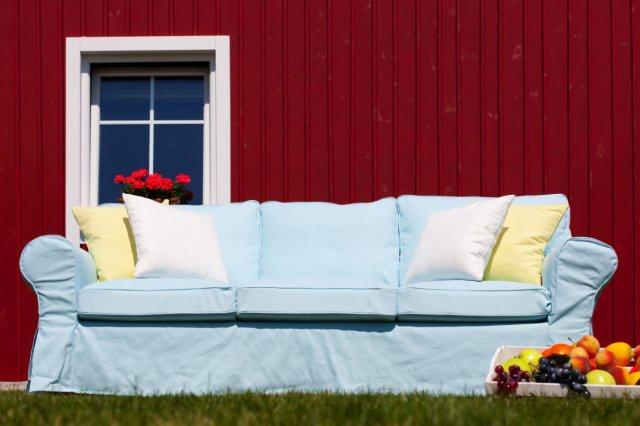 Styl skandynawski to także kolor tzw. swedish red. Typowy dla drewnianych domów