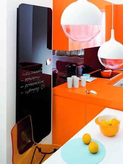 Grzejnik - tafla czarnego szkła Invidi New Instal-Projekt