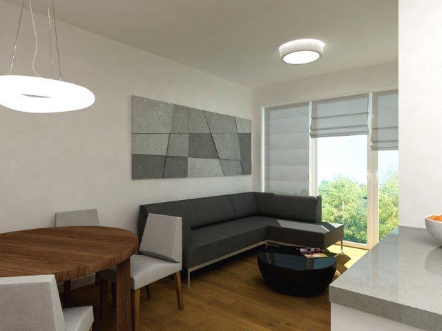 Pokój urządzony w kolorach bieli i czerni - projekt Quadrat