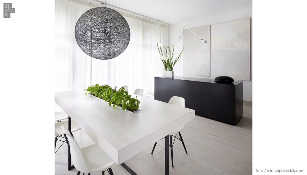 Mieszkanie czarno-białe