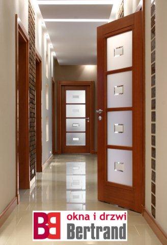 Drewniane drzwi wewnętrzne firmy Bertrand