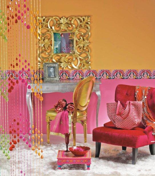 Pokój w stylu Bollywood