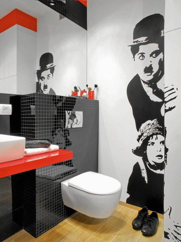 łazienka kinomaniaka - naklejki na ścianie