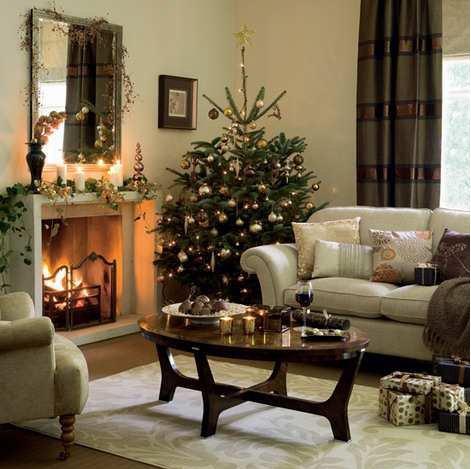 Złoto i biel - pomysł na świąteczne mieszkanie; propozycja Para Paints