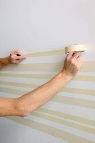 Przygotowanie do malowania pasów - krok 1