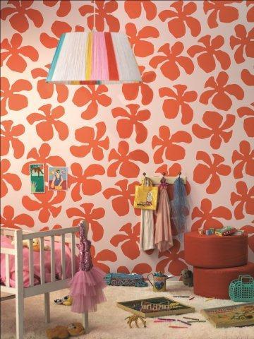 Kwiecista ściana - wzór od szablonu