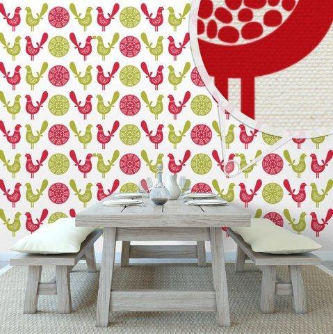 Naturalne płótno dekoracyjne na ścianie - Minka