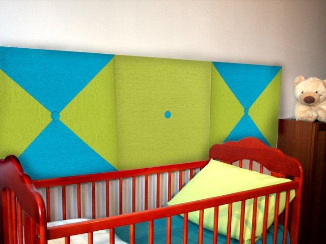 Miękka ściana w pokoju dziecięcym