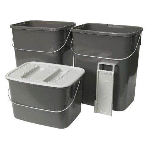 Zestaw koszy na śmieci do zamontowanie w szafce kuchennej