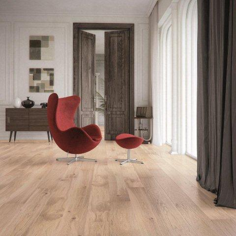 Podłoga drewniana Banana Song - dąb o kremowym odcieniu