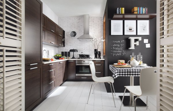 Mocne kontrasty w kuchni Black Red White Family Line