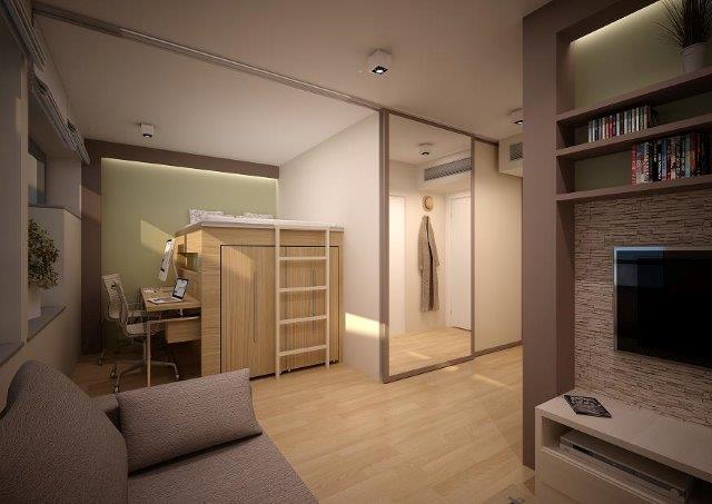 Salon w minimieszkaniu