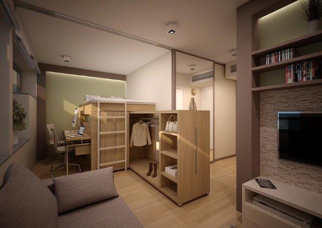 Pomysł na szafę wsuwaną pod łóżko