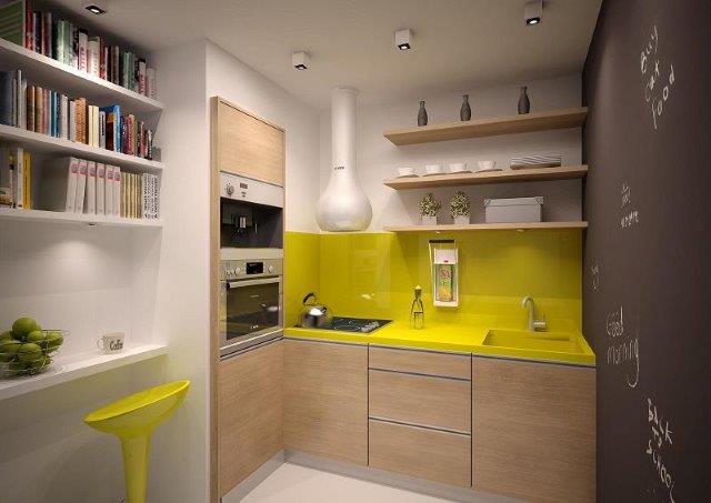Minikuchnia w małym mieszkaniu