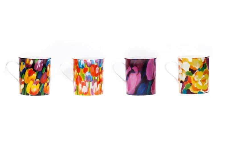 Kubki malowane w kwiaty - seria porcelany Designer Collection Gerlach