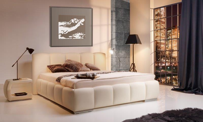 Sypialnia urządzona meblami Stolwit Carrera