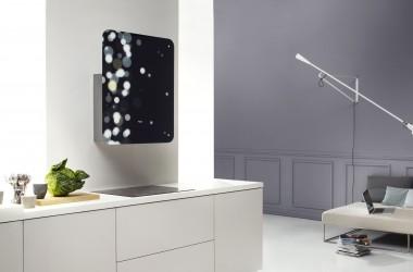 Kolorowe i wzorzyste okapy z wymiennym panelem