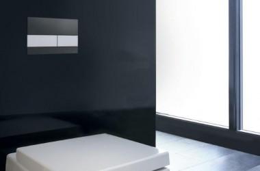 Ponadczasowa biel i czerń w łazience