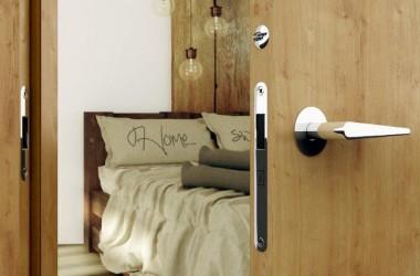 Drzwi do mieszkania w stylu skandynawskim