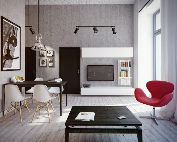 Mieszkanie z stylu loft -Nowa Papiernia Wrocław