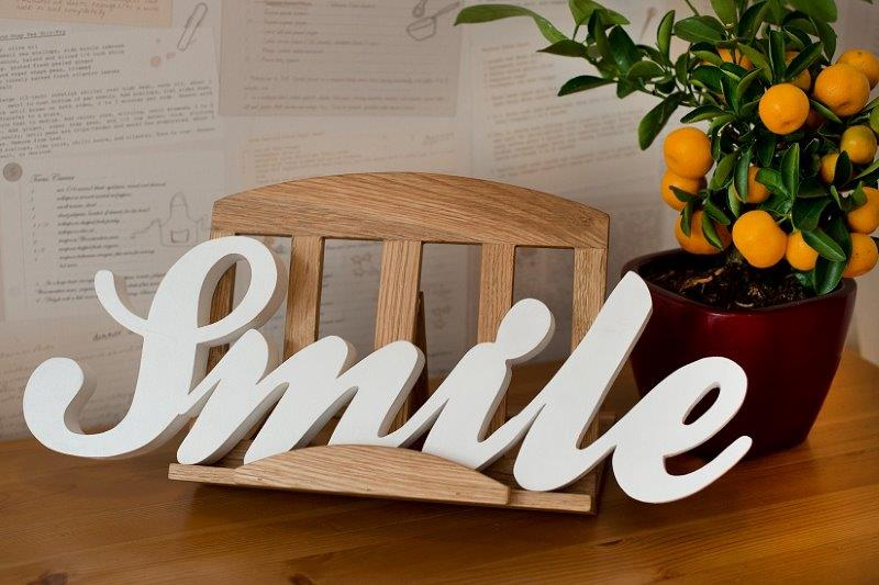 Drewniany napis
