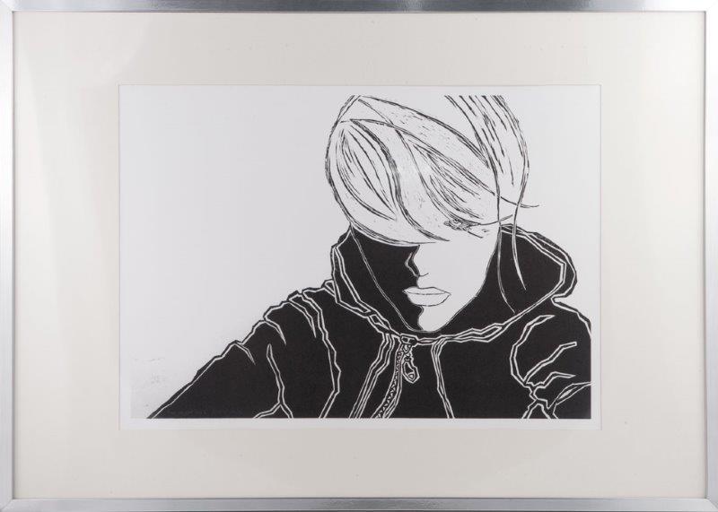 Linoryt Me, Myself and I, format linorytu 102 x 72 cm, cena 399 zł