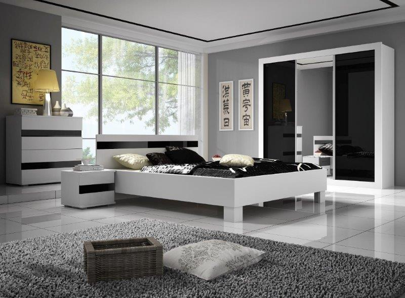 czarno bia e meble do pokoju pok j. Black Bedroom Furniture Sets. Home Design Ideas