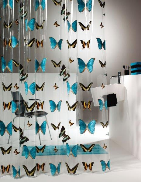 Zasłona prysznicowa Butterfly - fot. Sealskin