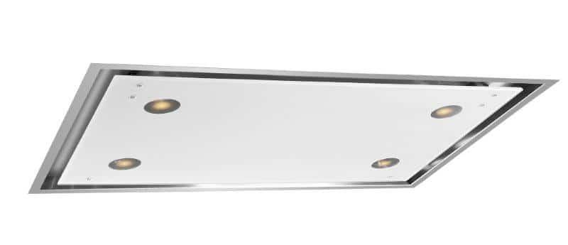Okap podsufitowy z białym szkłem - Estrella Glass Ciarko Design