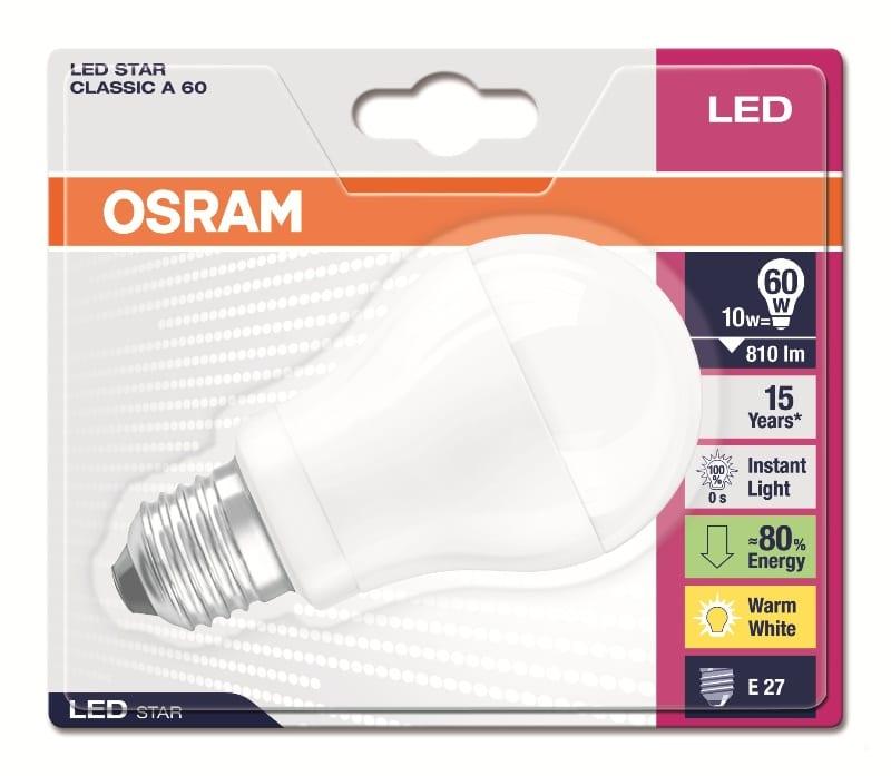 Oznaczenia na opakowaniu lampy LED