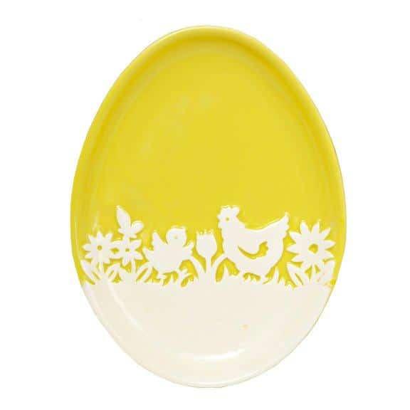 Ceramiczny talerz w kształcie jajka - do kupienia w salonach Empik