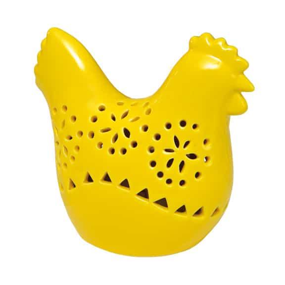 Porcelanowa kura z podświetleniem LED, do kupienia w salonach Empik