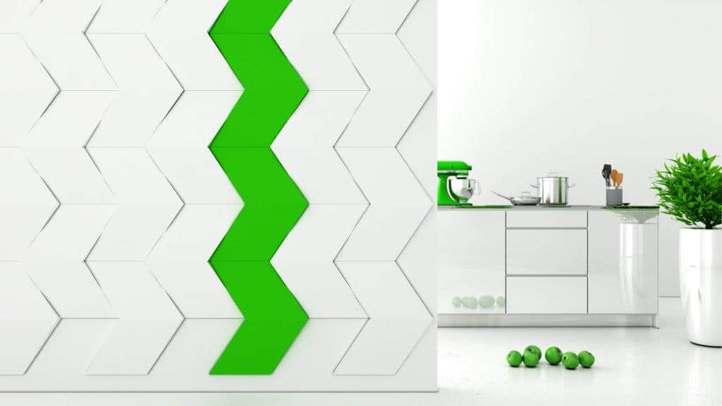 miękkie panele ścienne 3d Fluffo kolekcja CHEVRON