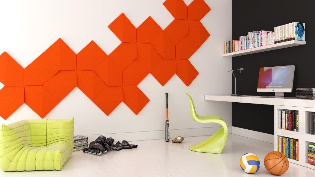 miękkie panele ścienne 3d Fluffo kolekcja LINK