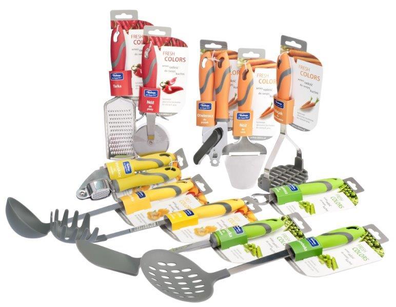 Komplet narzędzi kuchennych Fresh Colors marki Galicja