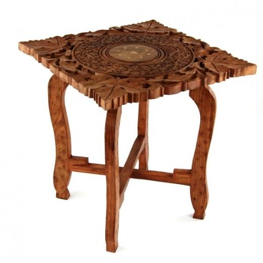 Orientalny stolik drewniany - Etnobazar.pl