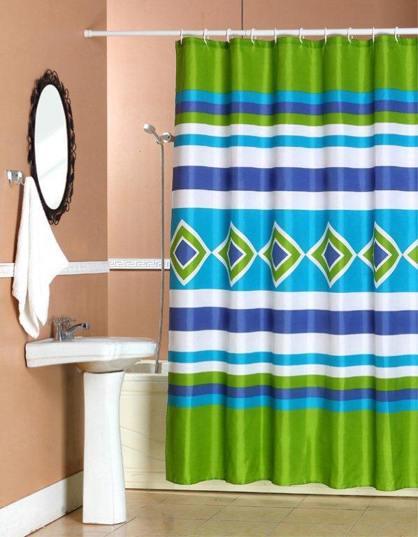 Zasłonka prysznicowa poliestrowa 180 x 180 cm; sklepgalicja.pl