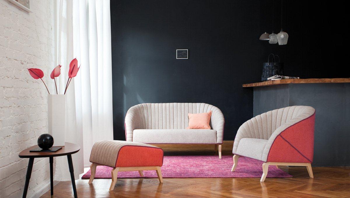 Kolekcja mebli tapicerowanych Shelly marki Bizzarto
