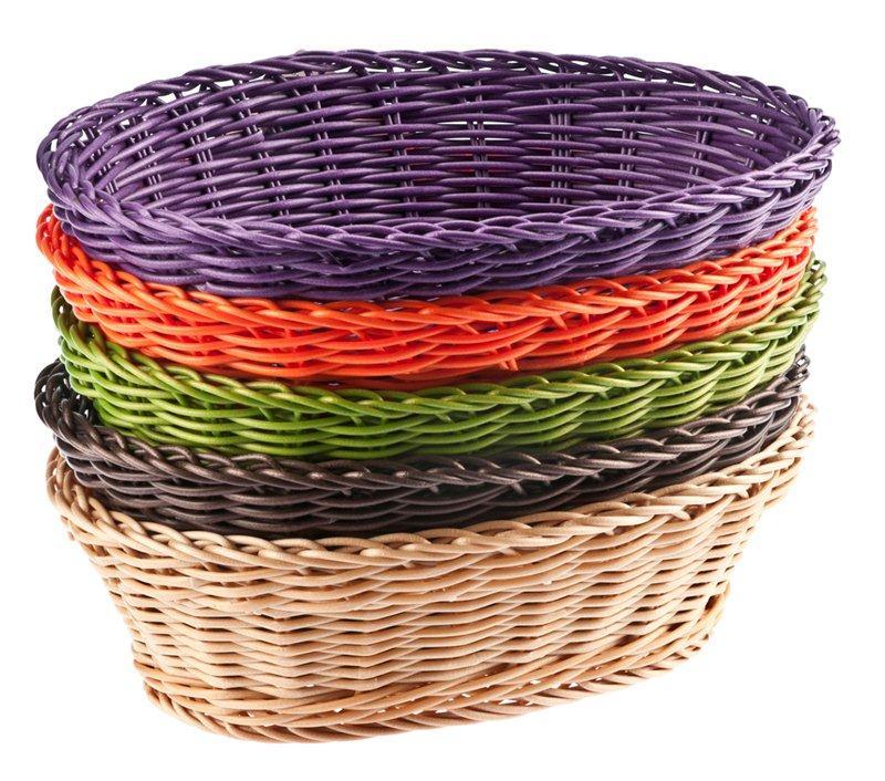 Koszyki wyplatane kolorowe