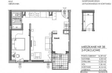 Na 57 metrach – pokój dzięki przeniesieniu kuchni do przedpokoju