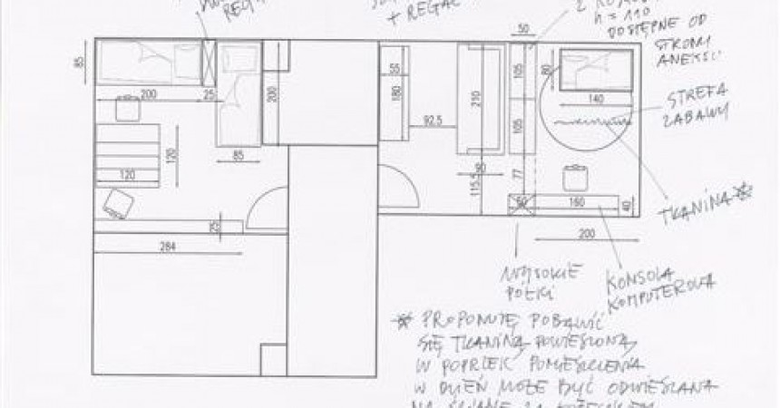 48 m2, dwa pokoje dla mamy i trójki dzieci