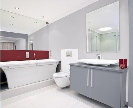 szary kolor w łazience