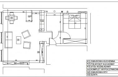 Projekt przeniesienia kuchni i połączenia jej z pokojem