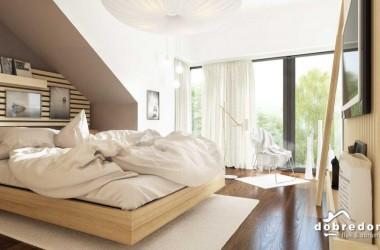 Sypialnia, czyli strefa nocna w projekcie domu