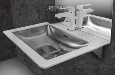 Stalowe umywalki Intra ICON