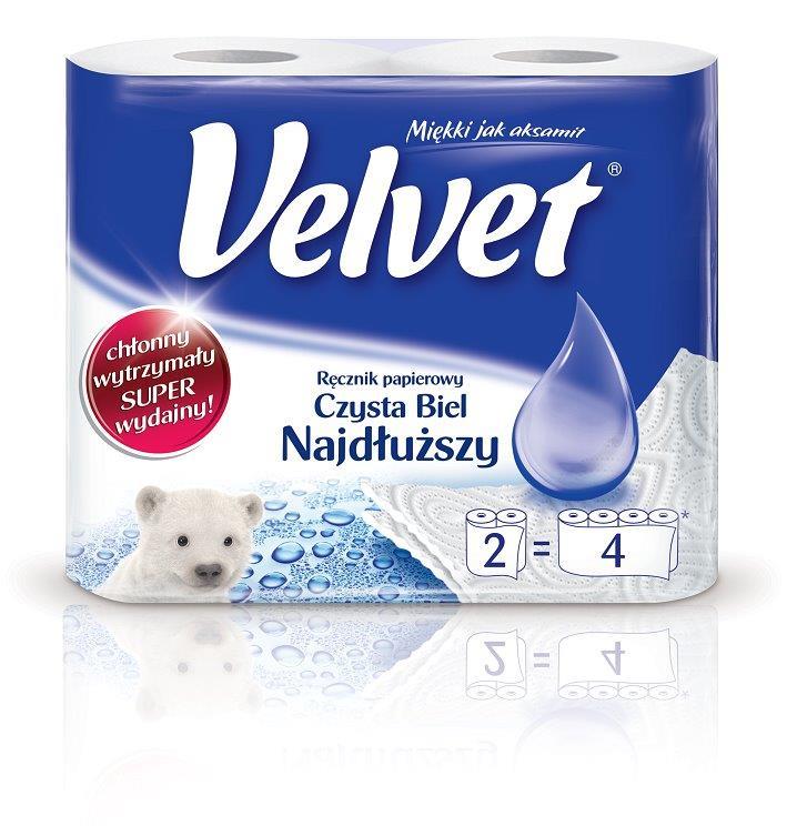 Ręczniki papierowe Velvet cena 6-7 zł