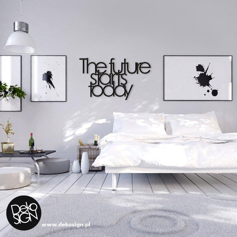 Przykładowy napis dekoracyjny DEKOSIGN na ścianie